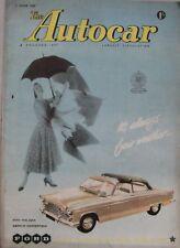 Autocar magazine 1 June 1956 featuring BMW road test