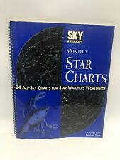 Vintage 1995 Sky & Telescope 24 Monthly Star Charts Lovi Blow Cambridge Mass