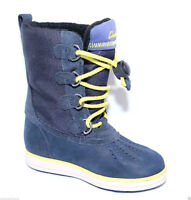 NEW CLARKS SYD UP GTX NAVY LEATHER BOOTS