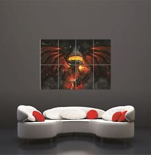 Fire Dragon Rune Circle Red Giant Poster Print Picture