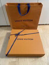 Louis Vuitton Authentic Empty Magnetic Box 19x17.5x3.5 w/ Paper Shopping Bag Set