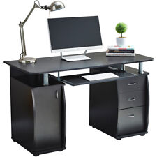 Computer Desk With Cabinet and 3 Drawers for Home Office PC Table Study RayGar