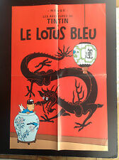 Poster Tintin lotus bleu Editions Atlas TBE