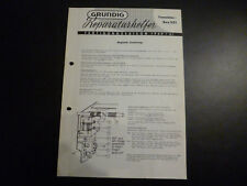 Original Service Manual  Grundig Transistor Box 201
