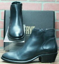 NEW Frye Women Carson Piping Bootie Black Leather Shoes Boots 78253 Size 10 M