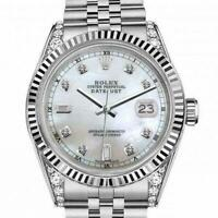 Ladies 26mm Rolex Datejust White MOP Mother Of Pearl 8 + 2 Dial Classic + Lugs R