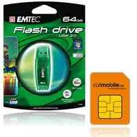 callmobile SIM-Karte + 64GB EMTEC C400 USB Stick kostenlos
