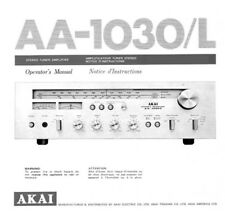 Akai AA-1030 AA-1030L Tuner Owners Instruction Manual