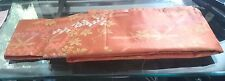 Japanese Obi Thick Orange bamboo flowers 138 inches NR