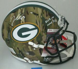 Packers JAIRE ALEXANDER Signed Full Size CAMO Authentic Helmet AUTO - JSA