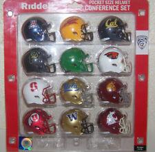 "2020 PAC 12 Conference NCAA Riddell Pocket Size Pro 2"" Replica Mini Helmet Set"