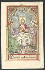 Estampa antigua de la Santa Cena andachtsbild santino holy card santini