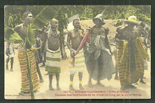 Cote d'Ivoire People Dance Costume Africa ca 1910