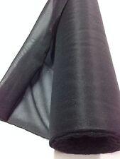 Maille Jersey THERMOCOLLANTE ENTOILAGE collant Noir au mètre largeur 90 cm