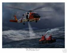 "USCG HH60 ""Jayhawk"" Helicopter Aviation Art Print"