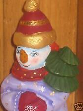 Poupée Russe Noël CHÊNE Figurine Bonhomme de neige PEINT À LA MAIN
