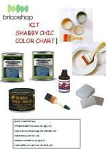 KIT PER SHABBY CHIC - COLOR ART - PITTURA SHABBY - VERNICE SHABBY KIT FAI DA TE