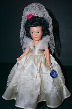 """Vintage Dream World Composition 12"""" bride Doll A/o with Tag"""