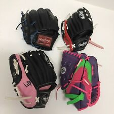 """4 Youth Baseball Gloves Rawlings Player series 8.5"""" 9"""" 9.5"""" Franklin 9 1/2"""""""