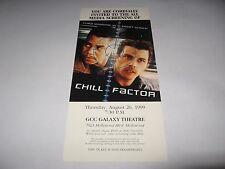 RARE VINTAGE 1999 CHILL FACTOR PREMIERE SCREENING MOVIE TICKET - CUBA GOODING JR