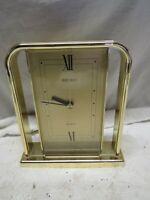 Vintage SEIKO GOLDTONE QUARTZ Pendulum Mantle Clock - QQZ163G