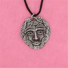 ENGLISH PEWTER - GREEN MAN - PENDANT PAGAN NECKLACE