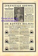 Hanau Höhensonne XL Reklame 1924 Krüppel Rachitis Behinderung Eltern Krankheit