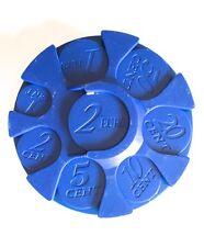 Monedero organizador de monedas clasificador color azul