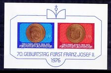 Franz Joseph II, Prince of Liechtenstein, 70th birthday, 1976 MNH SS