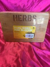 Mini Bamboo Dual Sided Cutting Chopping Board Herbs & Lemon & Lime 20.5cm x 15cm