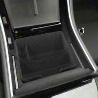 Center Console Armrest Storage Box Organizer Flocking Non Slip For Tesla Model 3
