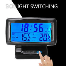 Auto Car LCD Digital Clock Thermometer Indoor Outdoor Temperature LED Backlight