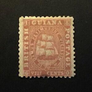 BRITISH GUIANA 1863 SG46 8c. pink MH & gum CV £300