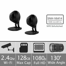 (2) Samsung SNH-V6414BN SmartCam HD Plus 1080p Wi-Fi Security Camera w/16GB Card