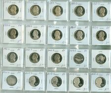 20 DIFFERENT YEARS OF PROOF JEFFERSON NICKELS (2024272)