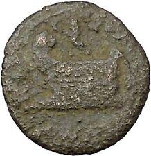 ELAGABALUS 218AD Coela in Thrace Prow Galley Ship Ancient Roman Coin i45420