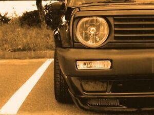 Für VW Golf 2 II Jetta 2 Böser Blick Grill Spoiler Motorhaubenverlängerung