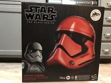 STAR WARS The Black Series Galaxy's Edge Captain Cardinal Electronic Helmet NEW