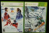 SSX Snowboarding + Vancouver 2010 Olympics XBOX 360 2 GAME Lot Tested + Complete