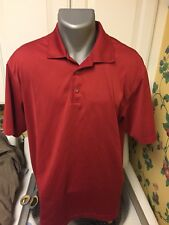 Nike Golf Dri Fit Men'S Large Polo Golf Shirt Red Large