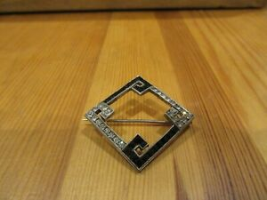 ART DECO 935 SILVER BROOCH SET WITH STONES