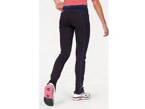 KangaROOS Damen Jogpants Sporthose Kontrastnähte Baumwollm schwarz blau Gr 34