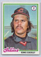 1978  DENNIS ECKERSLEY - Topps Baseball Card # 122 - CLEVELAND INDIANS