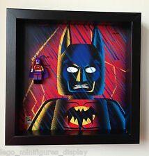 Lego minifigure Batman Zur-En-Arrh Frame. Display Case for Lego Comic Con SDCC