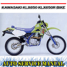 KAWASAKI KLX650 KLX650R BIKE WORKSHOP SERVICE REPAIR MANUAL ~ DVD