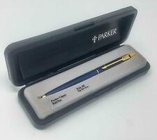 New Old Stock 1987 Vintage Parker Classic Ballpoint Pen, Navy & Gold, USA Brass