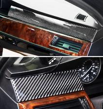 3PCS really Carbon Fiber Dashboard trim strip FOR BMW 5 Serie E60 E61 2005-2010