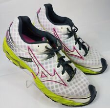 MIZUNO WOMENS WAVE PRECISION 12 WHITE / PURPLE ATHLETIC RUNNING SHOES SIZE 10