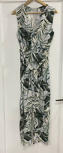 ZARA Palm Leaf Pantsuit Greens Sz L