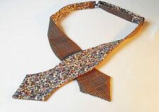 Scottish Tweed Wool Check Self tie Bow tie/Liberty print lining.